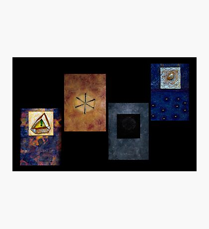 Abstract Conceptual Encaustic Constructs Photographic Print