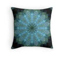 Blue Organdy Throw Pillow