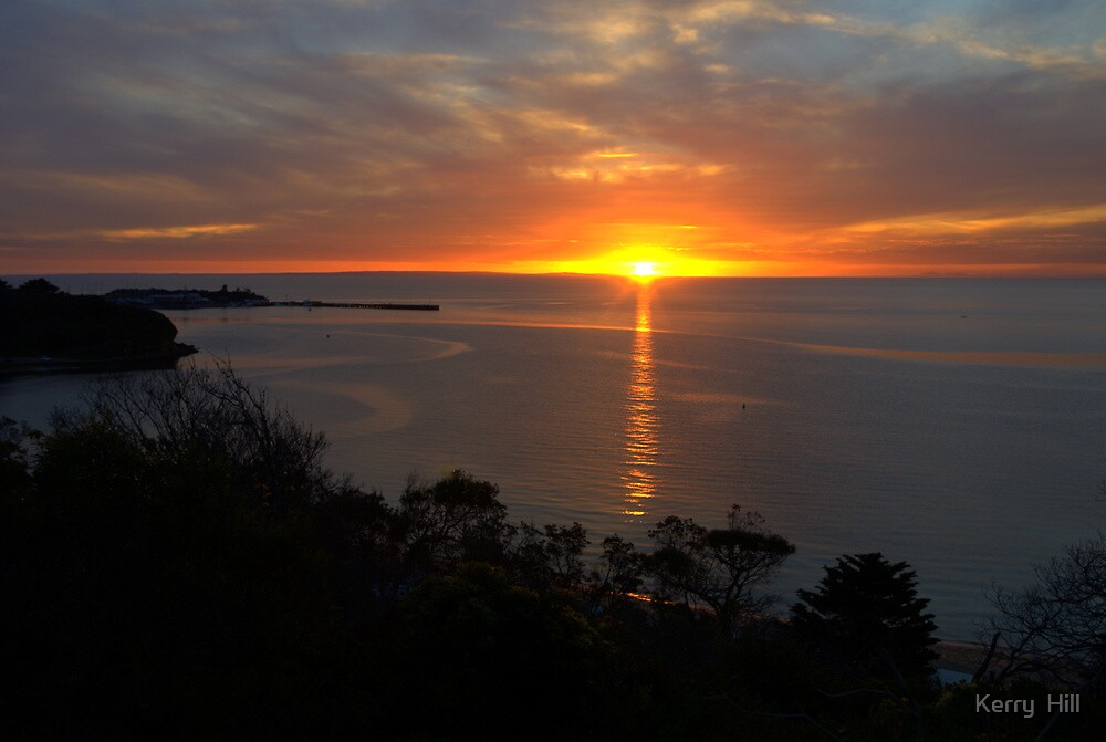 Winter Sunset by Kerry  Hill