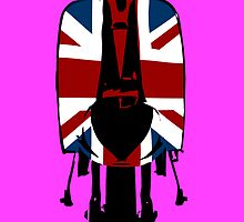 Union Jack Scooter Pop Art by Auslandesign