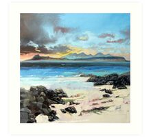 Eigg and Rum Art Print