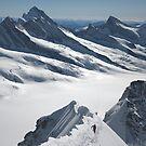 Climbers on der Mönch (4107 m), Switzerland by Hugh Chaffey-Millar