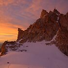 Sunset over Aiguille du Midi (3842 m), France by Hugh Chaffey-Millar