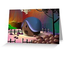 Loneliness of the pottery man's hut 	 Greeting Card