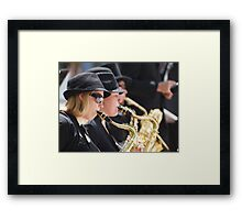 Grooving in the City Framed Print