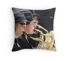 Grooving in the City Throw Pillow