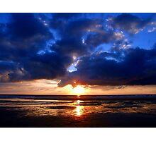 Atlantic Sunset - Biscarrosse Photographic Print