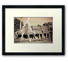 Preah Khan Tree Framed Print
