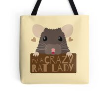 I'm a crazy Rat Lady more subtle cute rats face Tote Bag