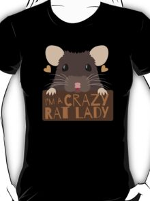 I'm a crazy Rat Lady more subtle cute rats face T-Shirt