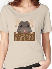 I'm a crazy Rat Lady more subtle cute rats face Women's Relaxed Fit T-Shirt