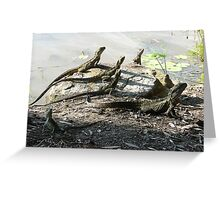 Water Dragon Group Photo - Family of Six Greeting Card