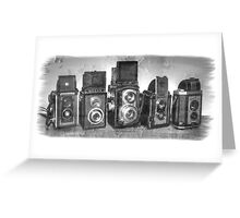 Twin Lens Reflex Cameras Greeting Card