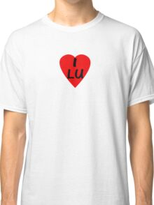 I Love Luxembourg - Country Code LU T-Shirt & Sticker Classic T-Shirt