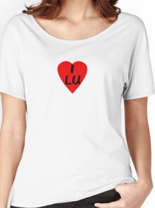 I Love Luxembourg - Country Code LU T-Shirt & Sticker Women's Relaxed Fit T-Shirt