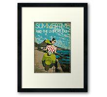 scooter girl Framed Print