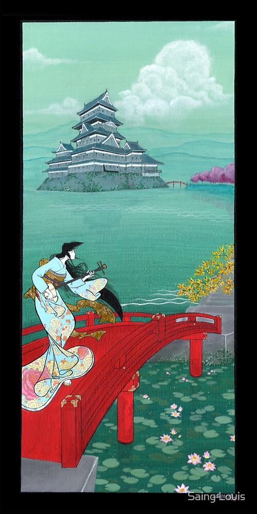 Japanese Woman - Castle by Saing Louis