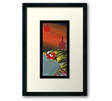Japanese Woman - Flame Framed Print