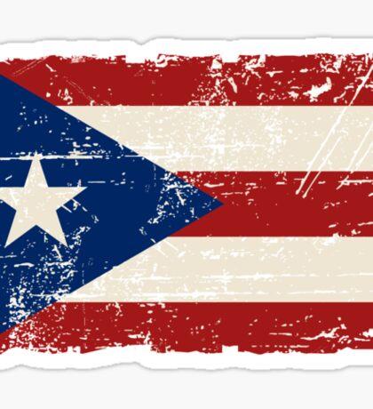 Puerto Rico Flag - Vintage Look Sticker