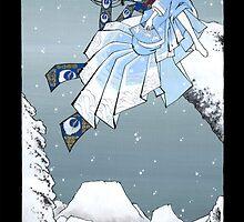 Japanese Woman - Winter by Saing Louis