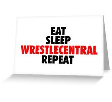 Wrestle Central - Repeat - 3 Greeting Card