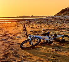 Bmx bike on beach at sunset by 7horses
