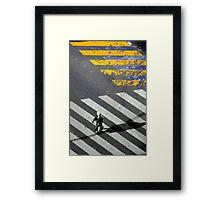 Paris - Crossing Framed Print