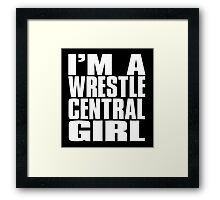 Wrestle Central - Girl Framed Print
