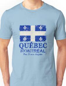 Québec Flag - Vintage Look Unisex T-Shirt