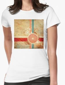 Slice of Citrus Abstract Womens Fitted T-Shirt