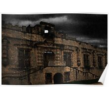 Bolsover Castle Ballroom in The Rain Poster