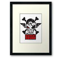 The Sickest Squad B&W Logo Framed Print