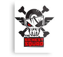 The Sickest Squad B&W Logo Metal Print