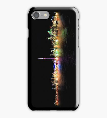 Toronto Skyline At Night From Centre Island Reflection iPhone Case/Skin