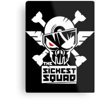 The Sickest Squad W&B Logo Metal Print