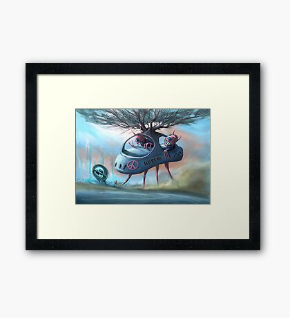 We Come In Peace Framed Print