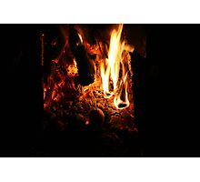 Bush Camp Fire  Photographic Print