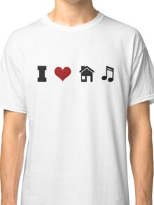 I Heart House Music  Classic T-Shirt