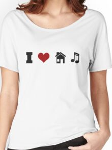 I Heart House Music  Women's Relaxed Fit T-Shirt
