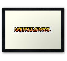 Wrestle Central - Logo 2 Framed Print