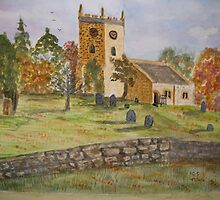 Autumn Churchyard by GEORGE SANDERSON