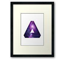 TRIANGLES :) Framed Print