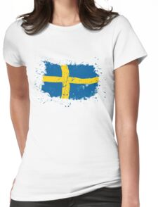 Sweden Flag - Vintage Look Womens Fitted T-Shirt