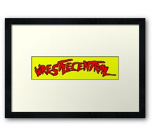 Wrestle Central - Yellow Framed Print