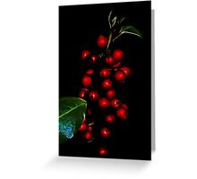 Baubles or berries? Greeting Card
