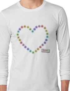 I Love Daisies and Rainbows Long Sleeve T-Shirt