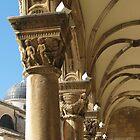 Capitals of Rector's Palace by Elena Skvortsova
