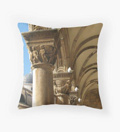 Capitals of Rector's Palace Throw Pillow