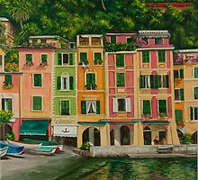 Colorful Portofino by Charlotte  Blanchard