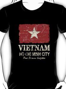 Vietnam Flag - Vintage Look T-Shirt